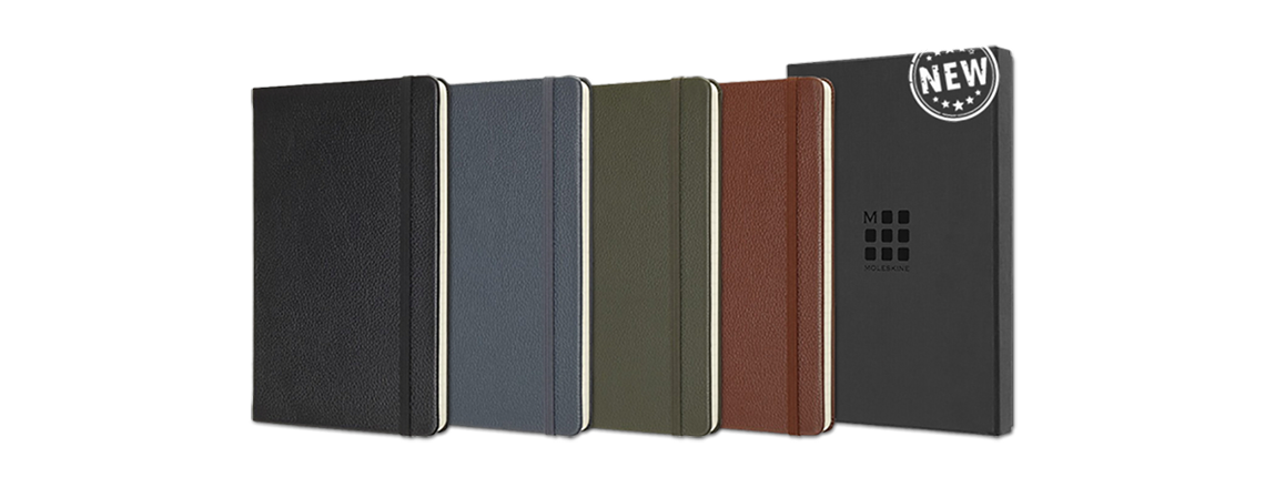 MOLESKINE VM330 notebook with premium leather cover - Business gifts with logo