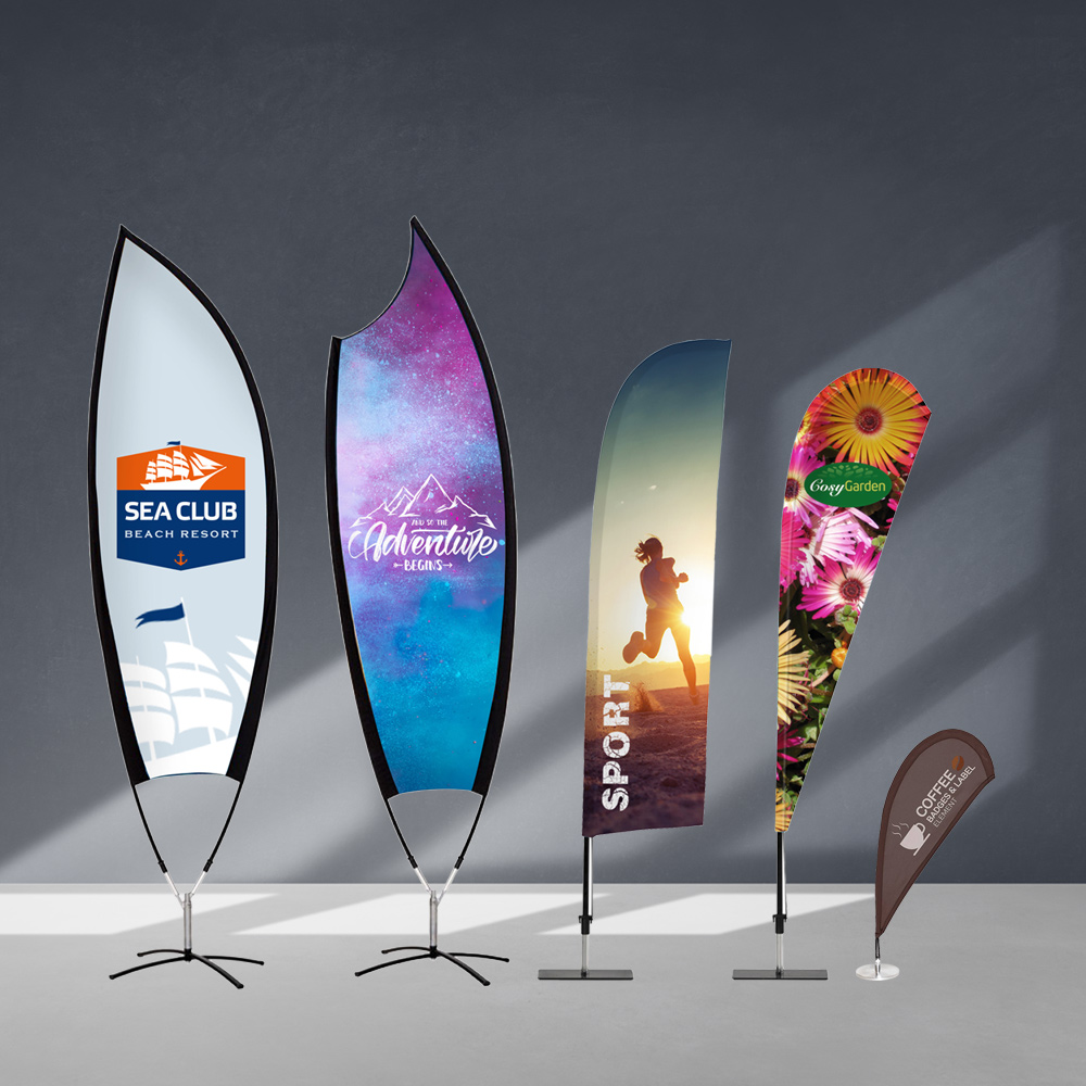 Promotional flags for advertising - Promotional flags for advertising