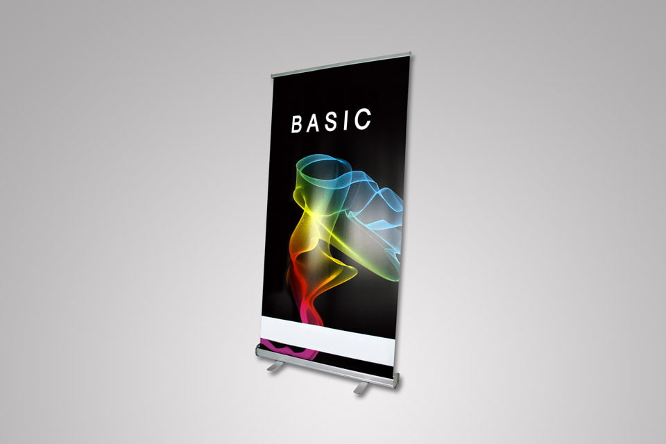 Roll Up Banner Basic 200 × 100 cm - Samostojeći Roll-up baner za grafičku prezentaciju