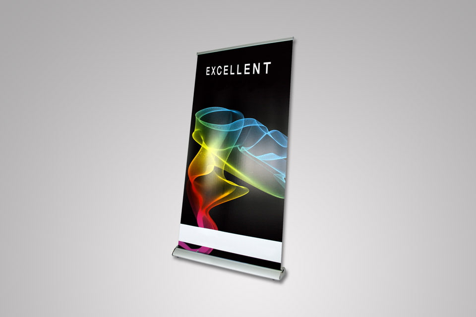 Roll Up Banner Excellent 200 × 100 cm - Samostojeći Roll-up baner za grafičku prezentaciju