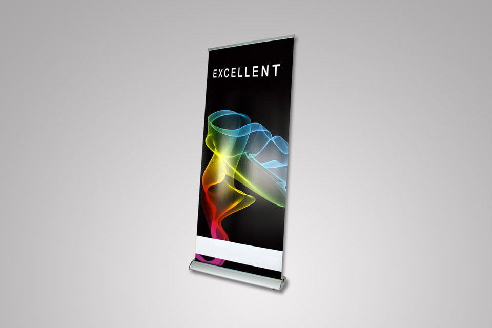 Roll Up Banner Excellent 200 × 85 cm - Samostojeći Roll-up baner za grafičku prezentaciju