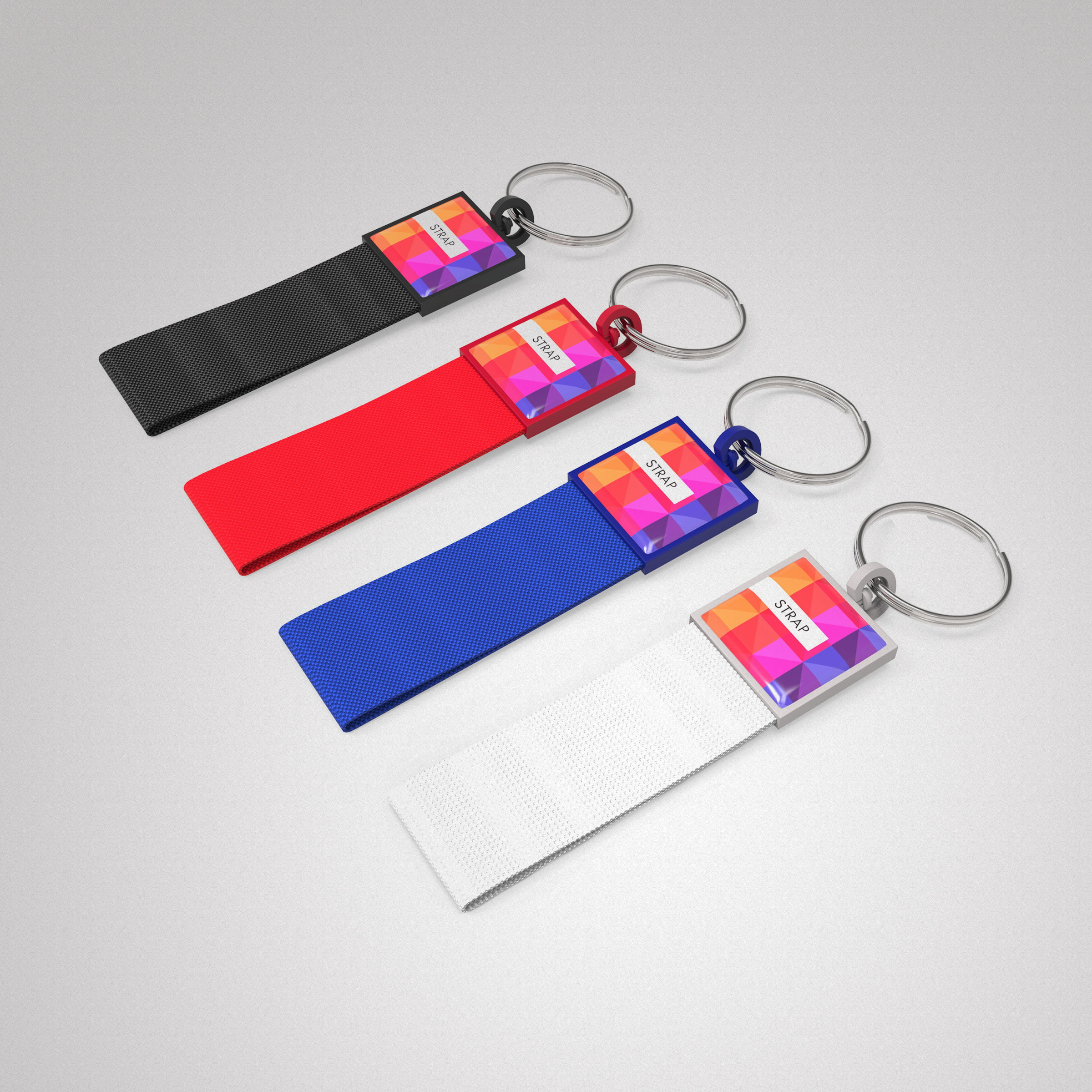 Key Ring Strap - Handy Key Ring Strap made in four colors