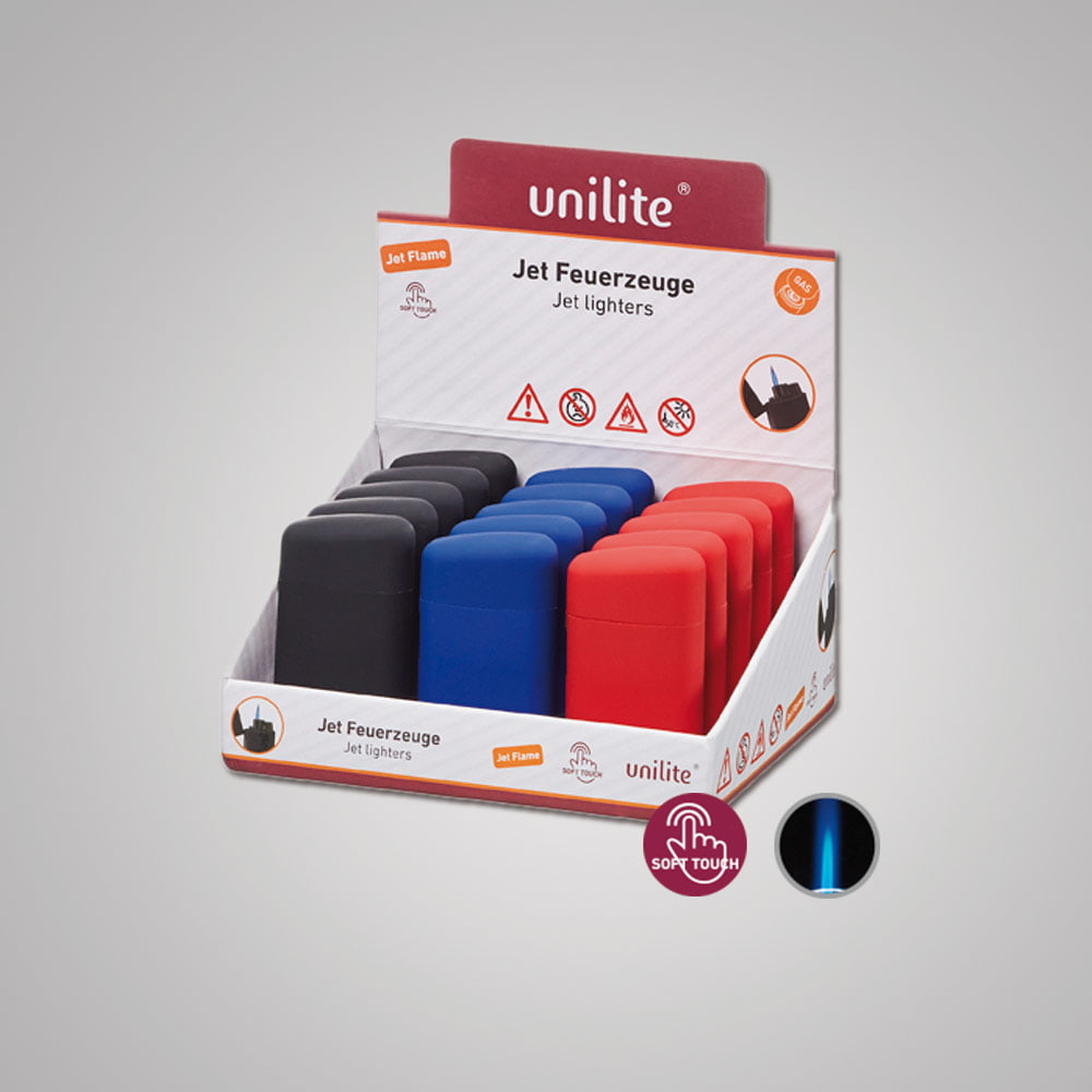 Lighter Unilite U-250 RB-3 EAN C&C - SoftTouch lighter in 3 colors