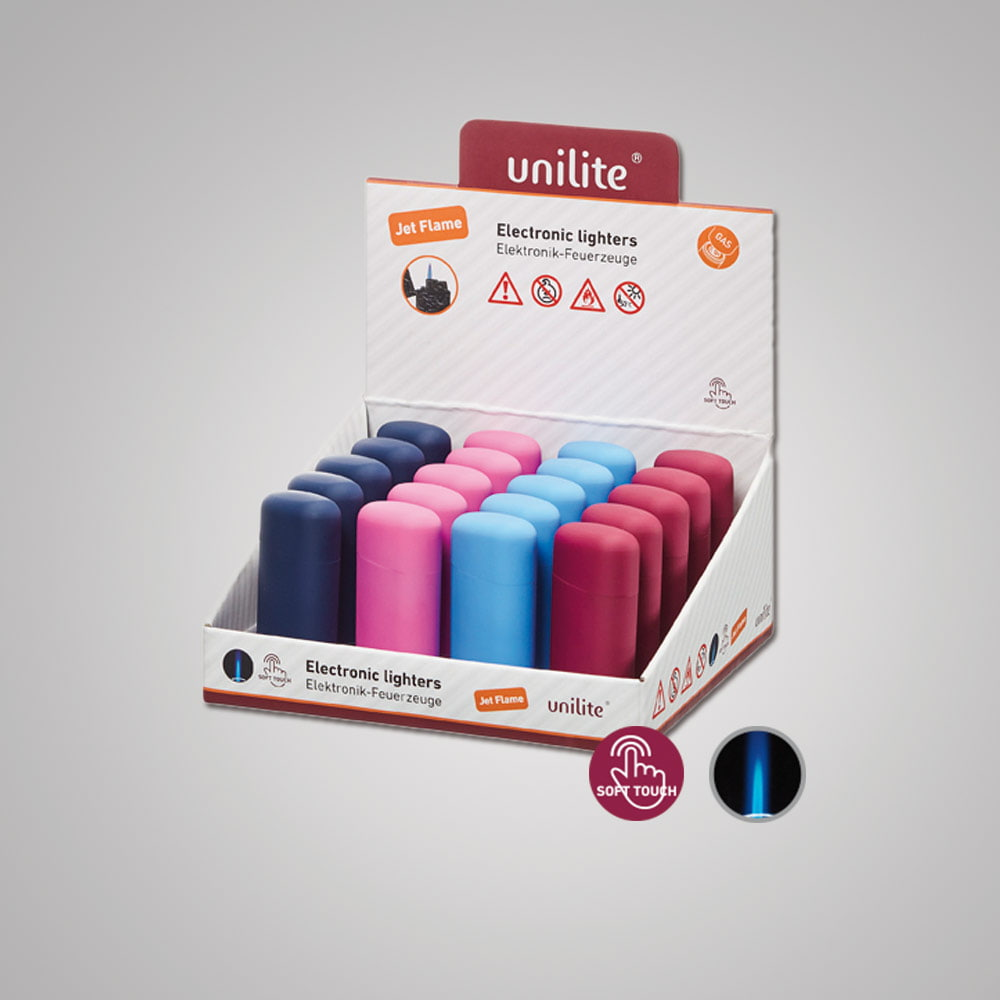 Lighter Unilite U-250 RB-4 Mix 3 - Attractive SoftTouch lighter in 4 colors - Winter collection