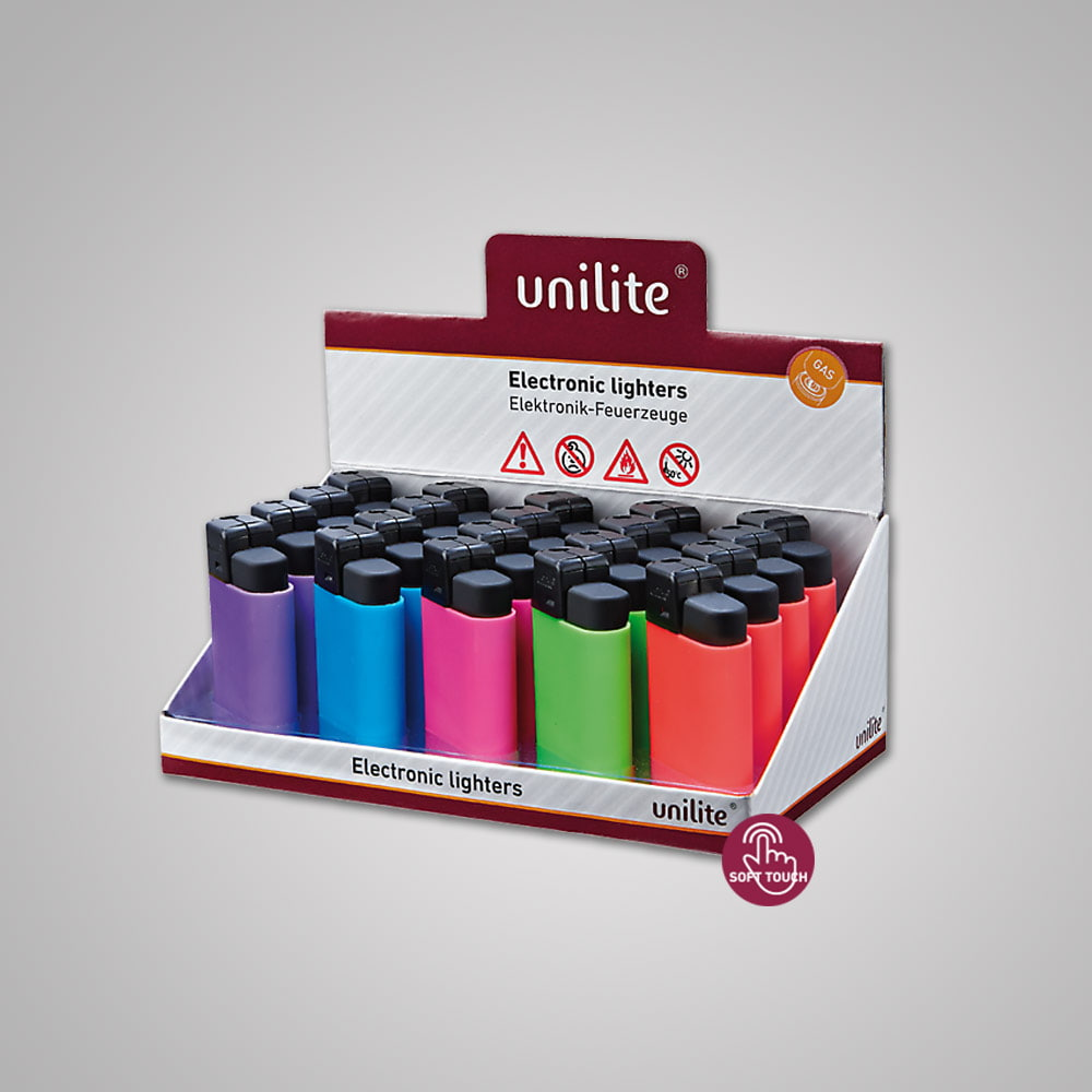 Lighter Unilite U-360 RB-5 - Soft Touch lighter in 5 attractive pastel colors