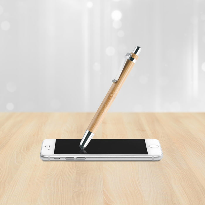 BYRON - bamboo ball pen with stylus for touch screens - BYRON - bamboo ball pen with stylus for touch screens
