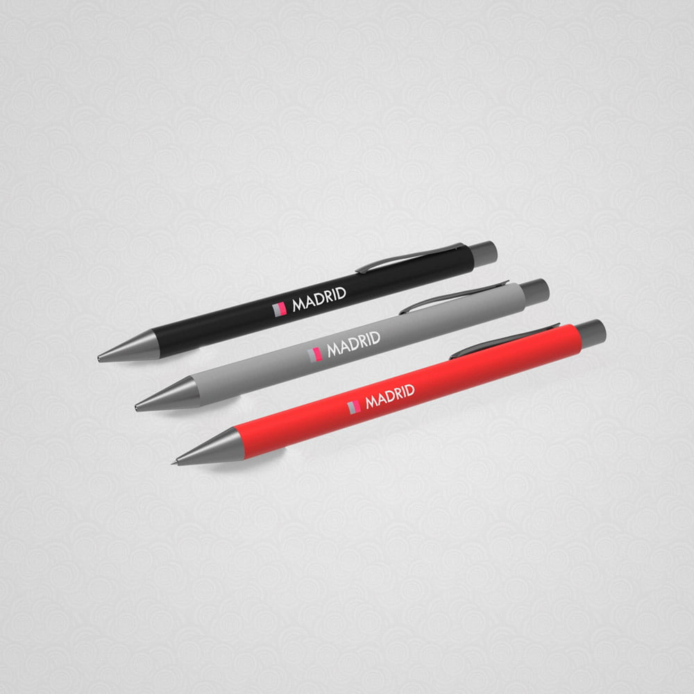 Aluminium pen MADRID with rubber grip - Aluminium pen MADRID with rubber grip