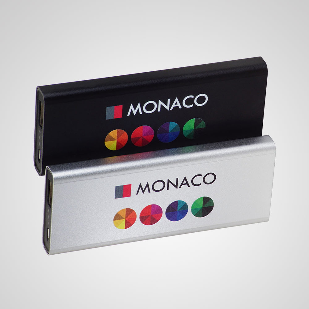 Power Bank Monaco - Aluminum Power Bank Monaco 4000 mAh with a safe battery