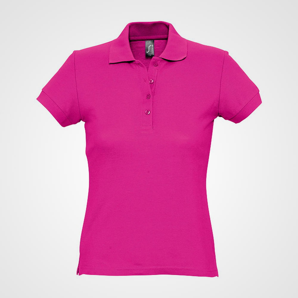 Women's polo shirt made of soft combed cotton - Women's polo shirt made of soft combed cotton