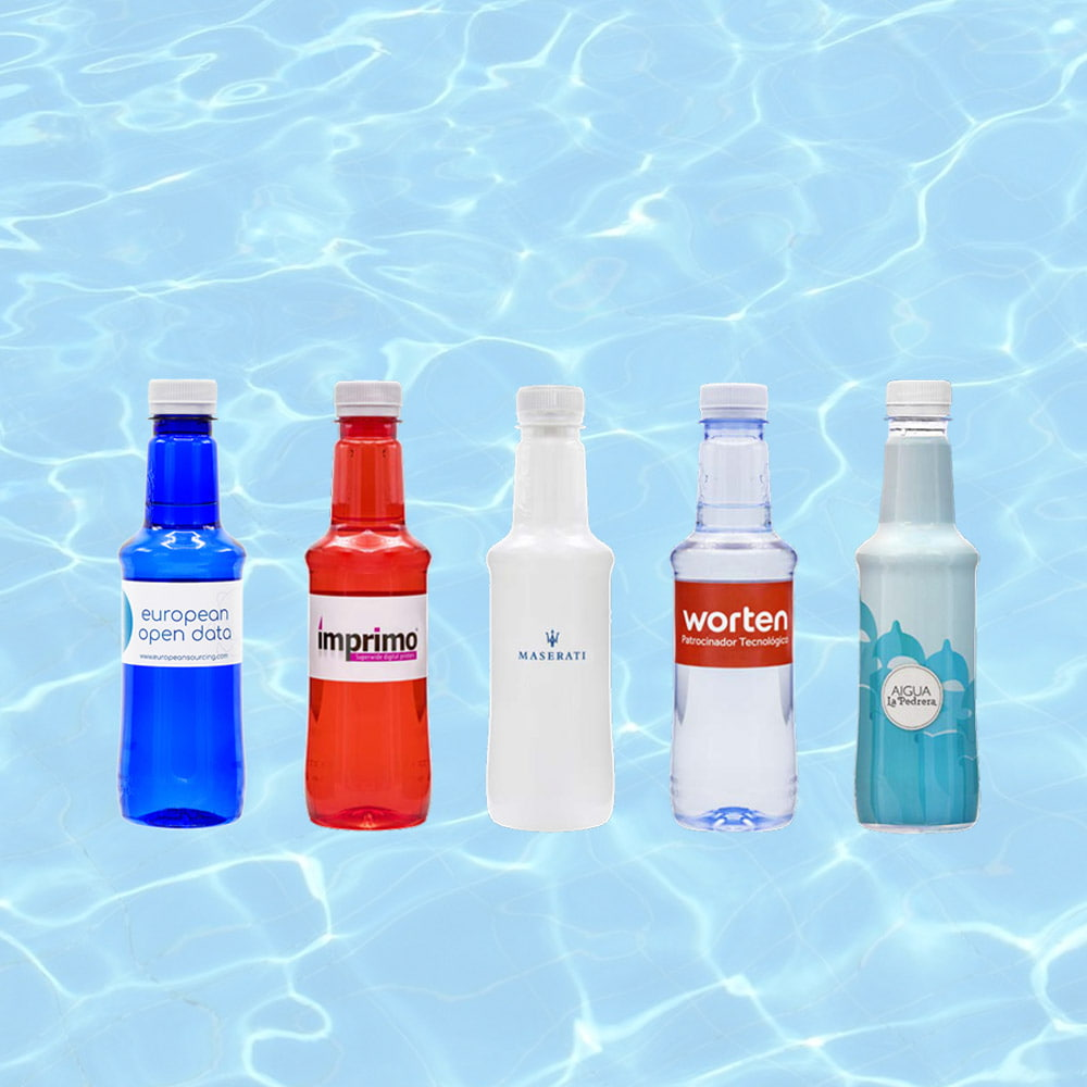 ALZOLA natural mineral water - ALZOLA bottle of natural mineral water with your brand print