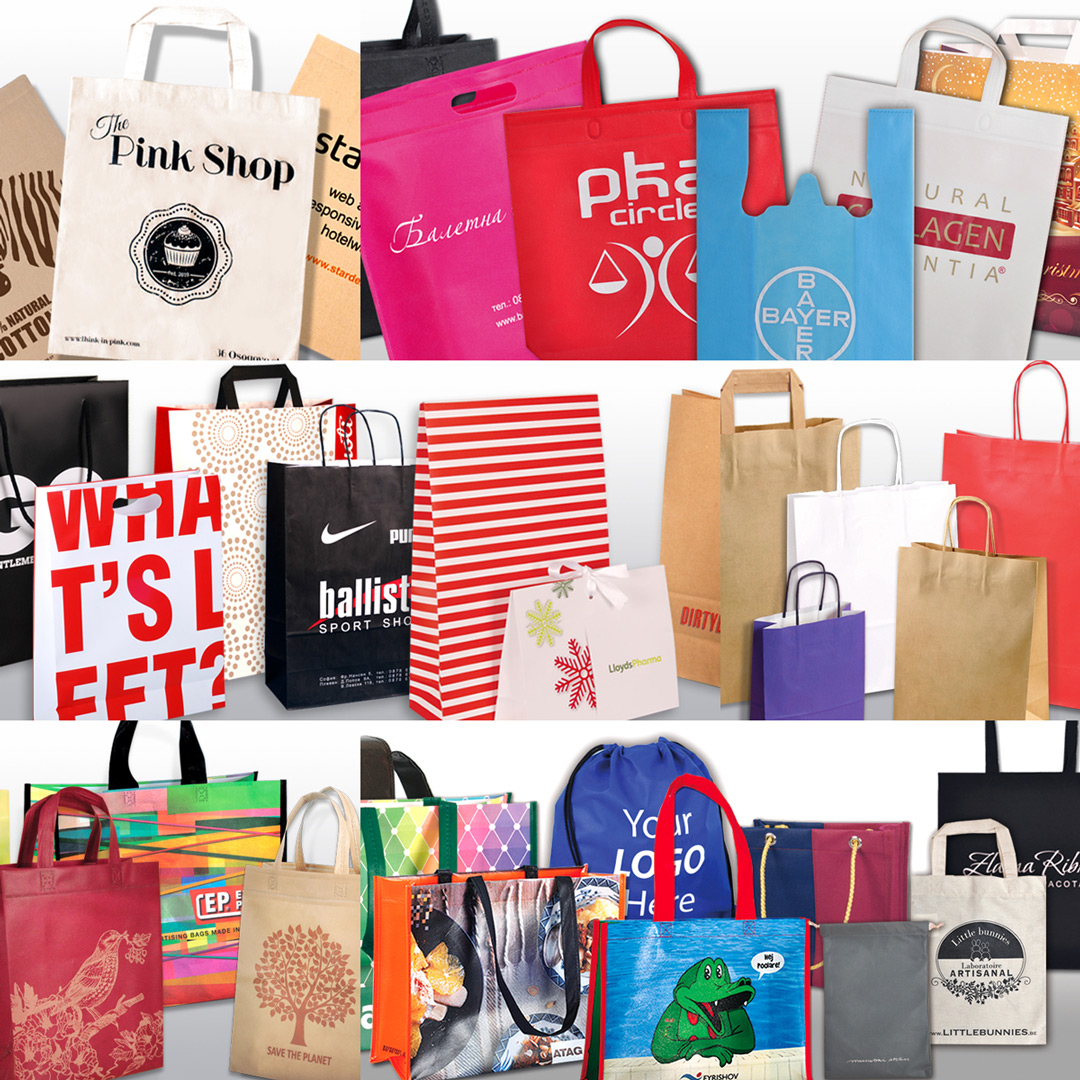 Paper, textile and plastic bags - Paper, textile and plastic bags